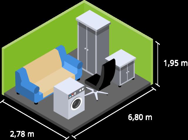 Box-it 19qm Garage oder Lager für Ihren Hausstand